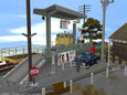 A4:行き交う人々で賑わう駅前