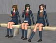 School gals sitting