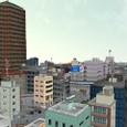 水の都鳥瞰:西側のビル街