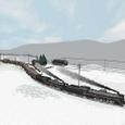 雪とC57重連