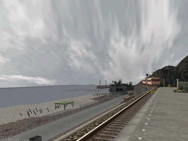 冬:海岸駅
