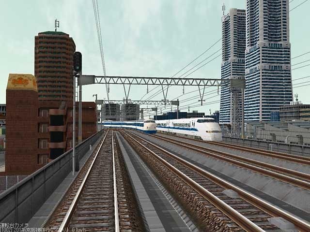 新幹線とのすれ違い